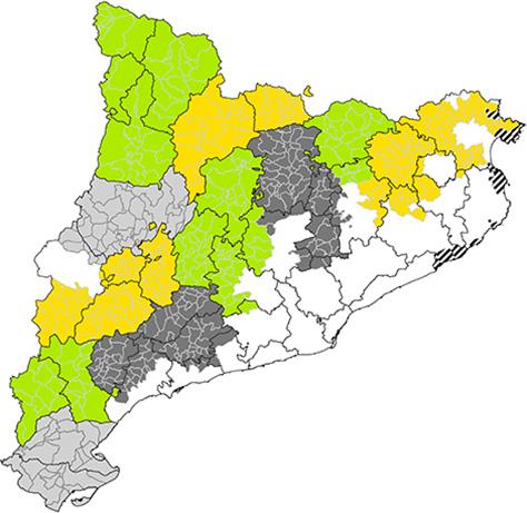 Mapa dels GAL de Catalunya.