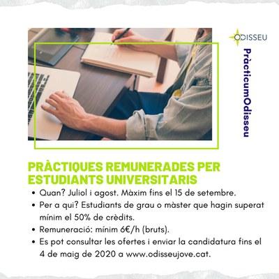 346 estudiants universitaris opten a les pràctiques ODISSEU de les comarques rurals Leader de Catalunya.