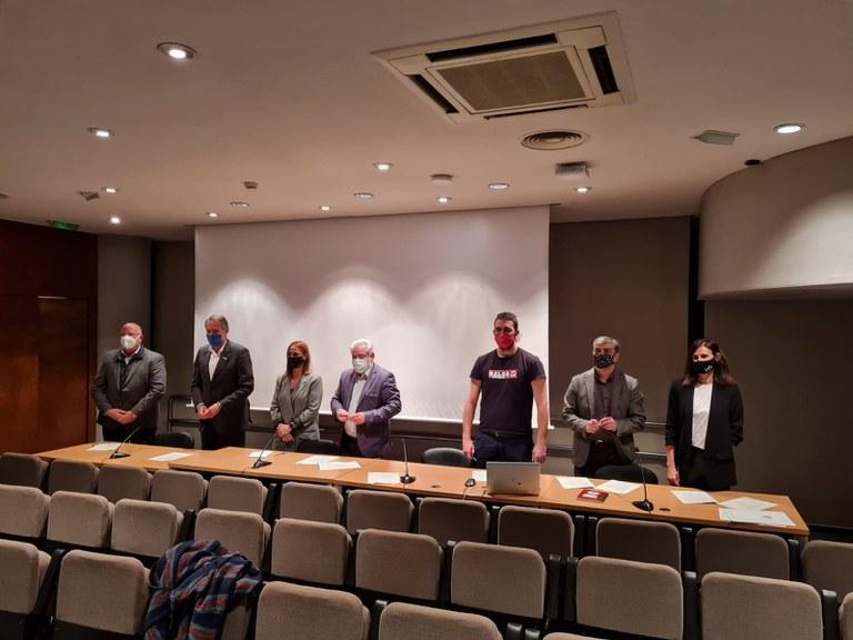 Signatura del conveni amb la Diputació de Barcelona