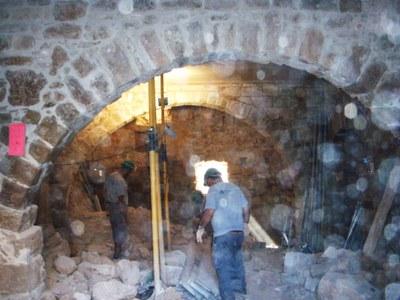 Avancen a bon ritme les obres de rehabilitació del Castell de Castellar (Aguilar de Segarra) .
