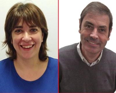 Raül Manzano i Teresa Farré, membres de la Xarxa d'Educació 360 a Lleida.