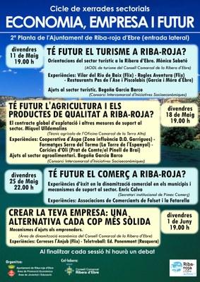 """Cicle de xerrades sectorials """"Economia, Empresa i Futur"""" a Riba-roja d'Ebre."""