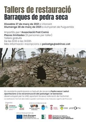 COL·LABORAxPAISATGE impulsa dos tallers de restauració de barraques de pedra seca.
