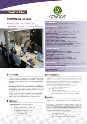 COWOCAT_RURAL, la xarxa d'espais i ecosistemes de coworking en entorns rurals de Catalunya .