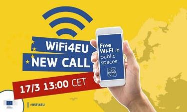 El 17 de març obre la 4a convocatòria WiFi4EU per a instal·lar wifi a espais públics municipals.