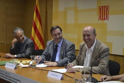 El conseller d'Agricultura, Josep Maria Pelegrí, destaca el paper del Programa Leader com a motor de l'economia rural de Catalunya.