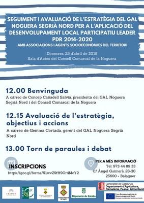 El GAL Noguera Segrià Nord convoca a associacions i agents socioeconòmics del territori per fer un seguiment i avaluació de l'estratègia 2014-2020.