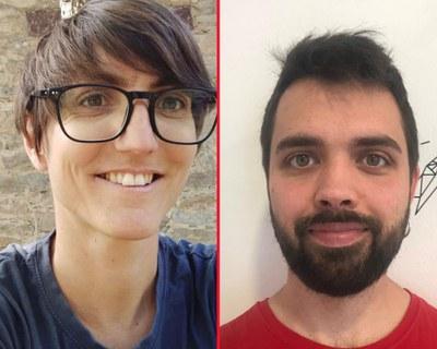 Laura Muixí i Nil Saladich, tècnics de l'Ateneu Cooperatiu de la Catalunya Central.
