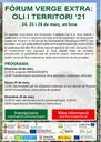 Els dies 24, 25 i 26 de març se celebrarà una nova edició del Fòrum Verge Extra: Oli i Territori 2021