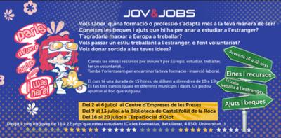 Ets jove i necessites orientar-te? Apunta't al curs JOV&JOBS! .