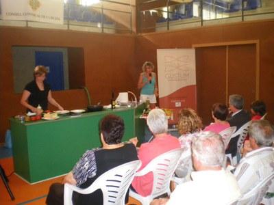 GUSTUM organitza demostracions de cuina de proximitat dins de la I Fira de la conserva de Bellpuig.