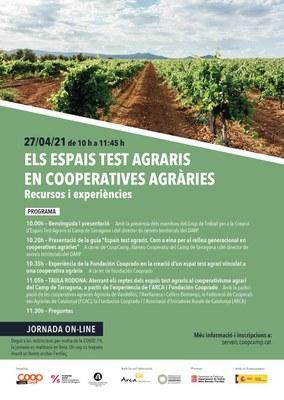 Jornada: 'Els espais test agraris en cooperatives agràries. Recursos i experiències'.