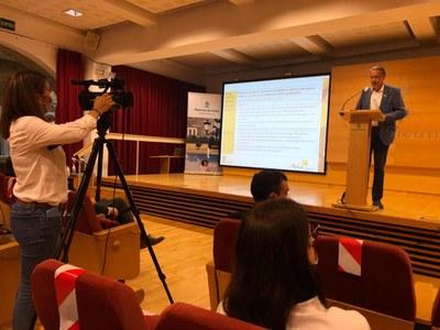 Francesc Lluch presentant el PECT 'Agrobiofood Ponent'.