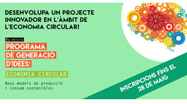 La Generalitat impulsa l'emprenedoria i la recerca al voltant de l'economia circular.