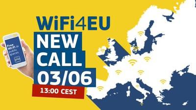 Nova convocatòria WiFi4EU per a instal·lar wifi a espais públics municipals.