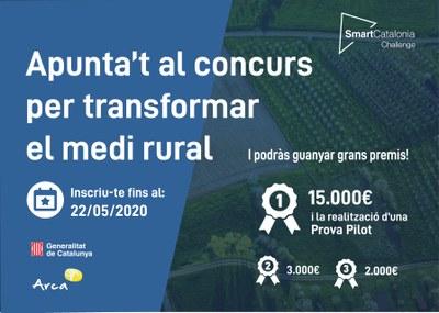 """Participa a l'""""SmartCatalonia Challenge"""" i promou la innovació en entorns rurals."""