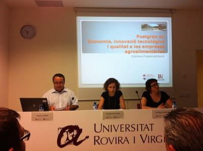 Presentació del postgrau en Economia, Innovació tecnològica i Qualitat a les Empreses Agroalimentàries..
