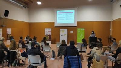 Imatge de la presentació dels nous índexs de relleu generacional a Alpens, realitzada a finals de maig.