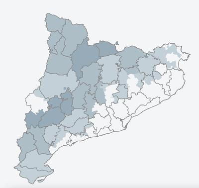 Mapa de Catalunya de la web Viure a Rural.