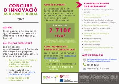 Concurs d'Innovació BCN Smart Rural 2021.