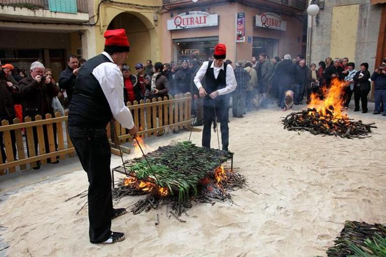 Calçotada a Valls (Fons Fotogràfic Ruta del Cister)