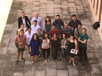 """Reunió dels socis """"Cowocat_Rural"""" (Consorci Intercomarcal d'Iniciatives Socioeconòmiques Ribera d'Ebre – Terra Alta)."""
