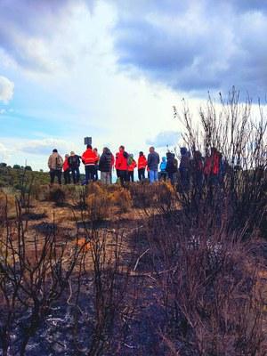 Jornada de camp sobre cremes prescrites per a la recuperació de pastures. Parcel·la demostrativa al Montseny (Associació Leader Ripollès Ges Bisaura).
