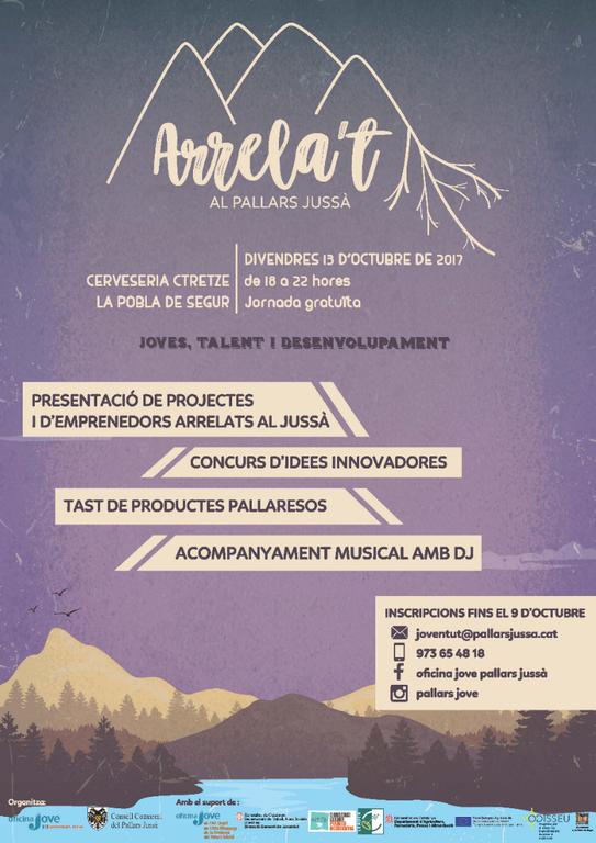 Cartell d'una jornada de networking de joves i empreses al Pallars Jussà (Consorci GAL Alt Urgell - Cerdanya)