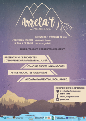 Cartell d'una jornada de networking de joves i empreses al Pallars Jussà (Consorci GAL Alt Urgell - Cerdanya).